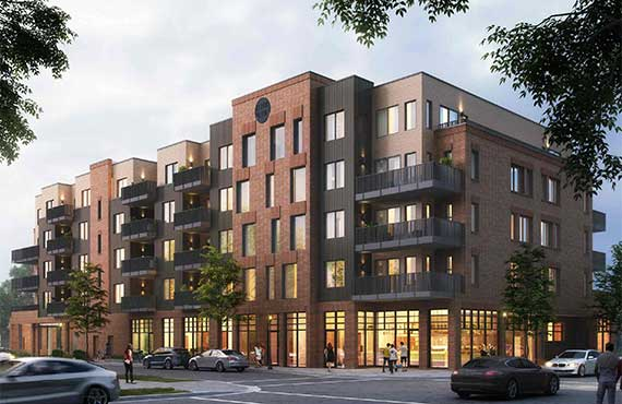 Black Olive Street Rendered Apartments Featured Project